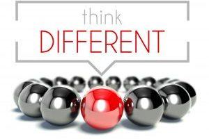 Think different business unique concept